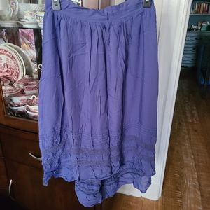 OLD NAVY High Low Casual Skirt Lace Trim Sz Small